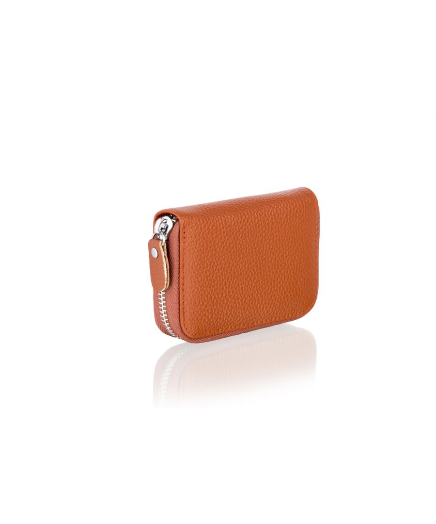 Image for Woodland Leather Brown Card Holder Zip Purse 4.0