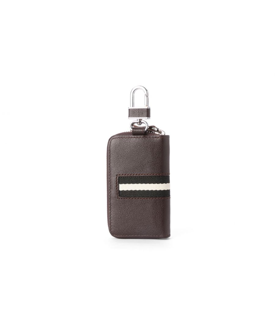 Image for Hautton Leather Brown Contrast Zip Around Key Case 4.0