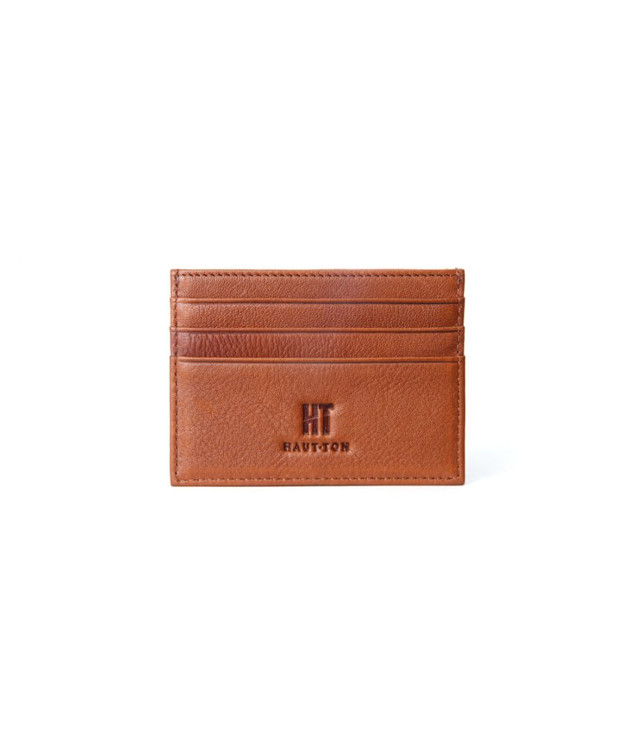 Image for Hautton Tan Thin 6 Credit Card Holder