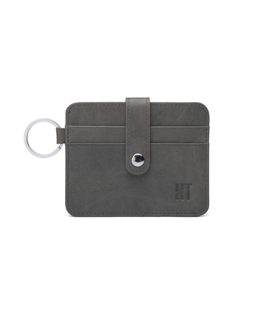 Image for Hautton Grey Thin 4 Credit Card Holder