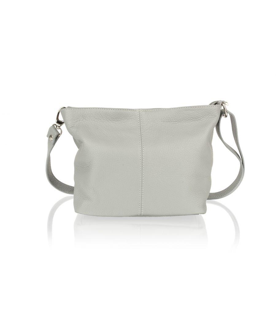 Image for Woodland Leather Light Grey Shoulder Bag 8.0