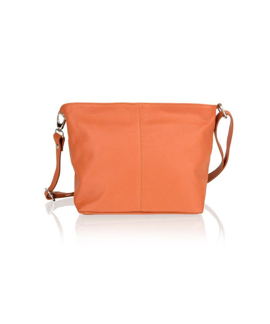 Image for Woodland Leather Orange Shoulder Bag 8.0