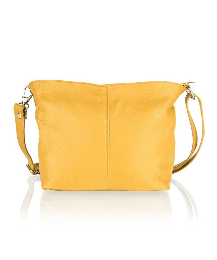 Image for Woodland Leather Yellow Shoulder Bag 8.0