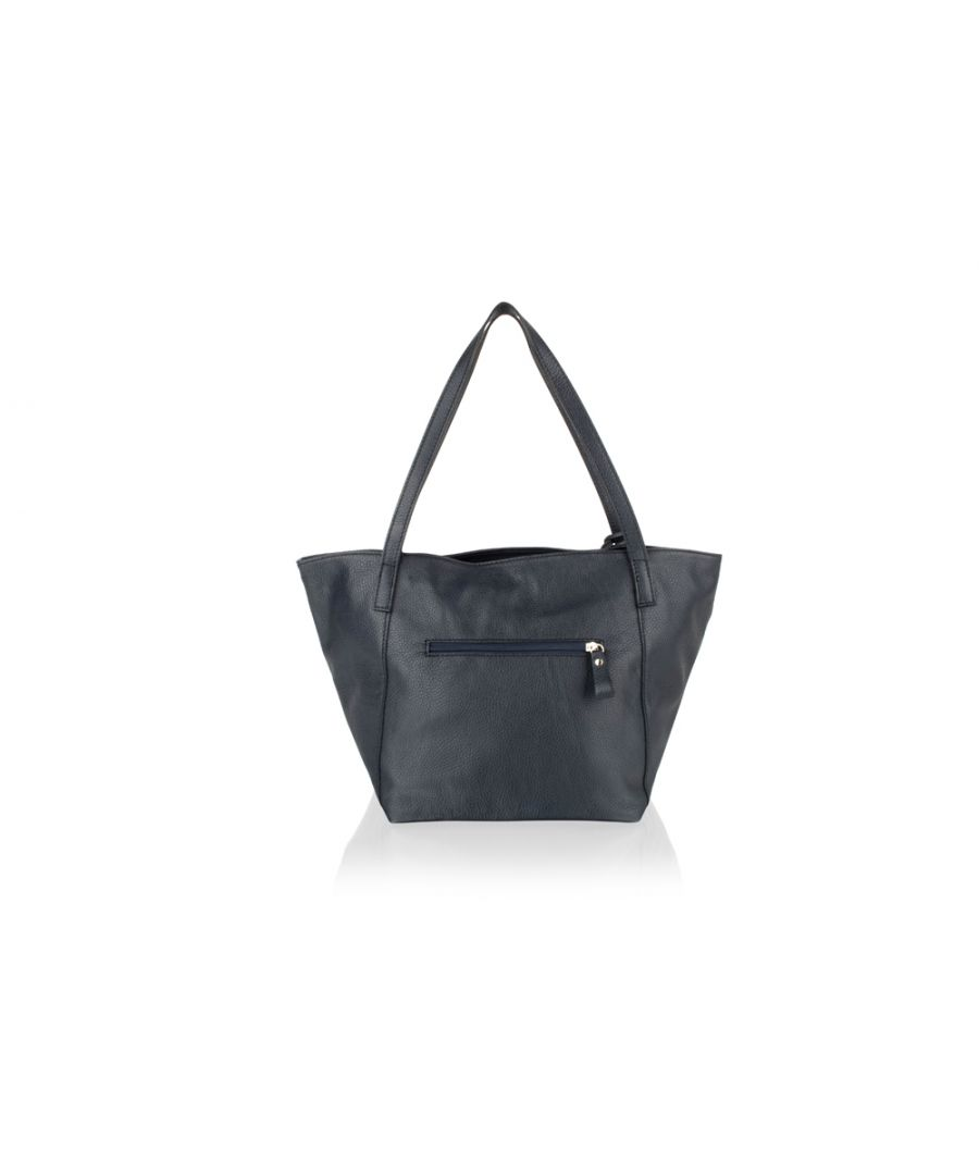 Image for Woodland Leather Navy Tote Shopping Bag 20.0