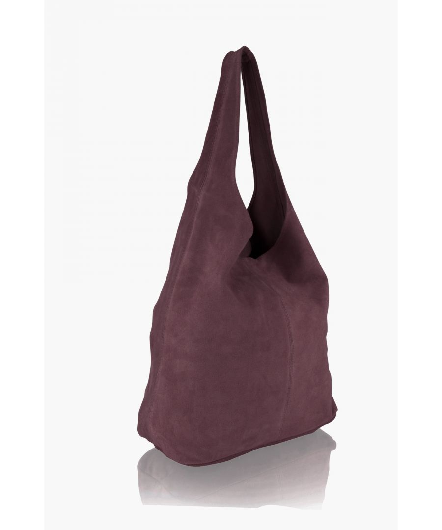 Image for Woodland Leather Berry Suede Shopping Bag 17.0