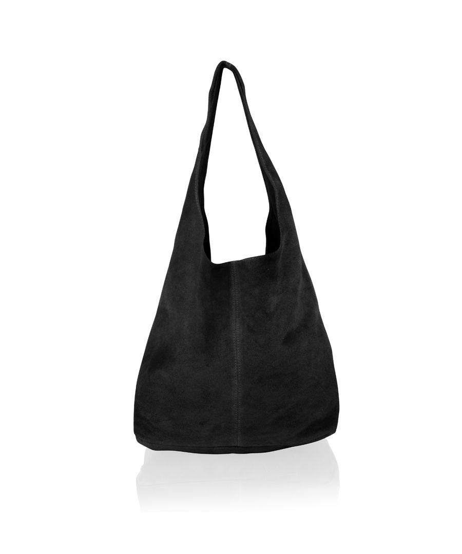 Image for Woodland Leather Black Suede Shopping Bag 17.0