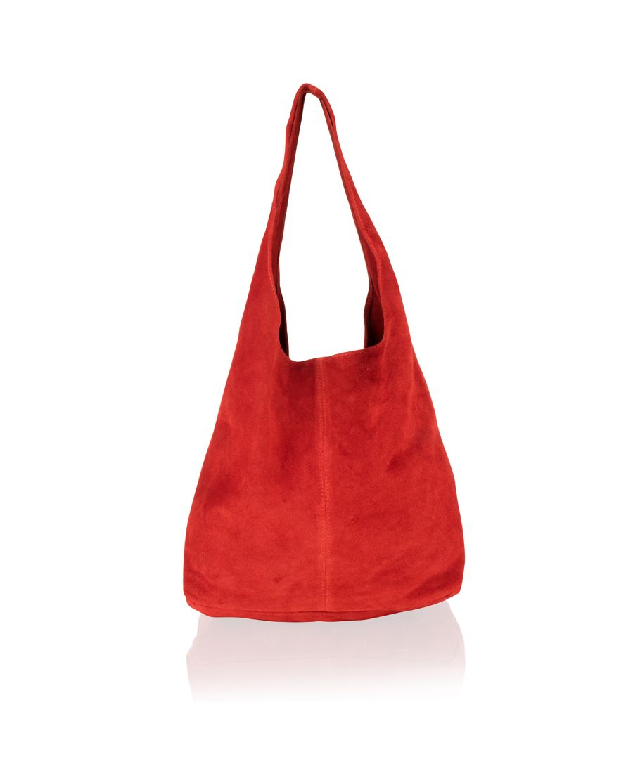 Image for Woodland Leather Red Suede Shopping Bag 17.0