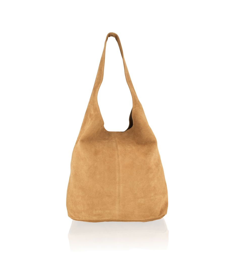 Image for Woodland Leather Light Tan Suede Shopping Bag 17.0