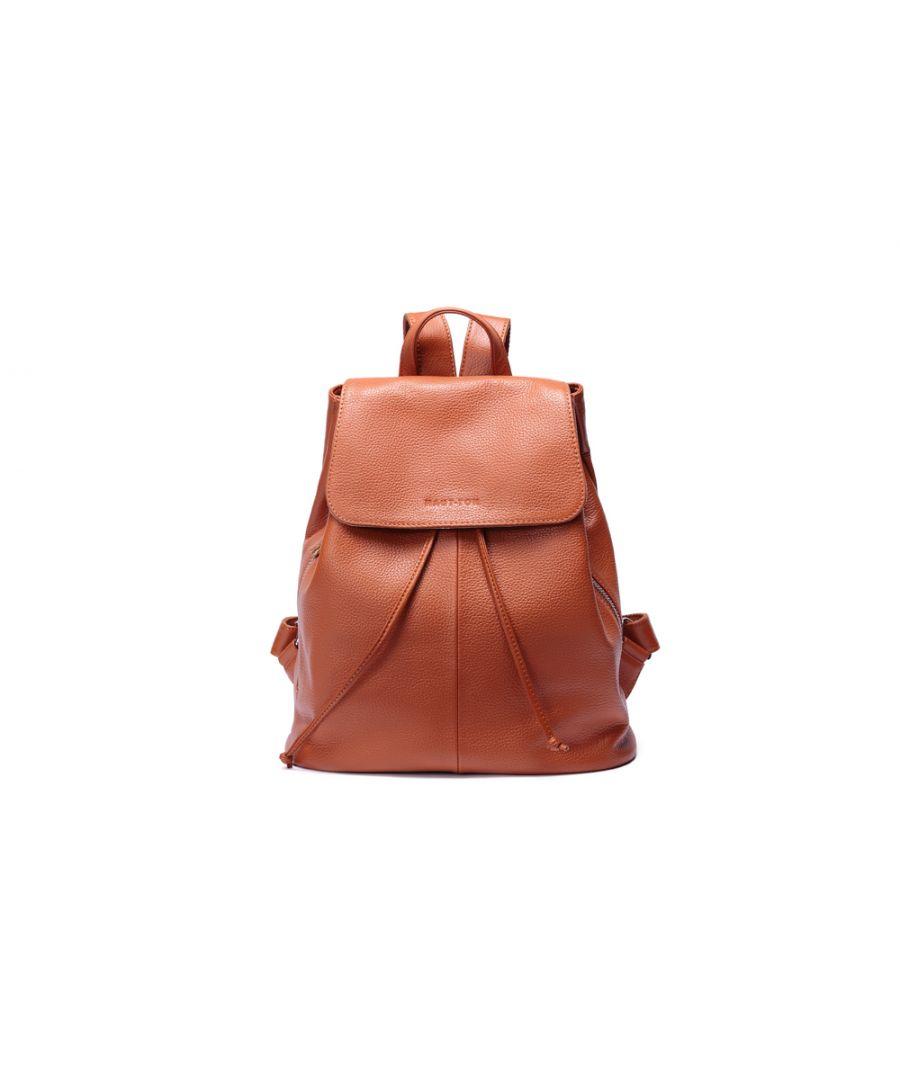 Image for Woodland Leather Tan Medium Size Ruck Sack 12.0