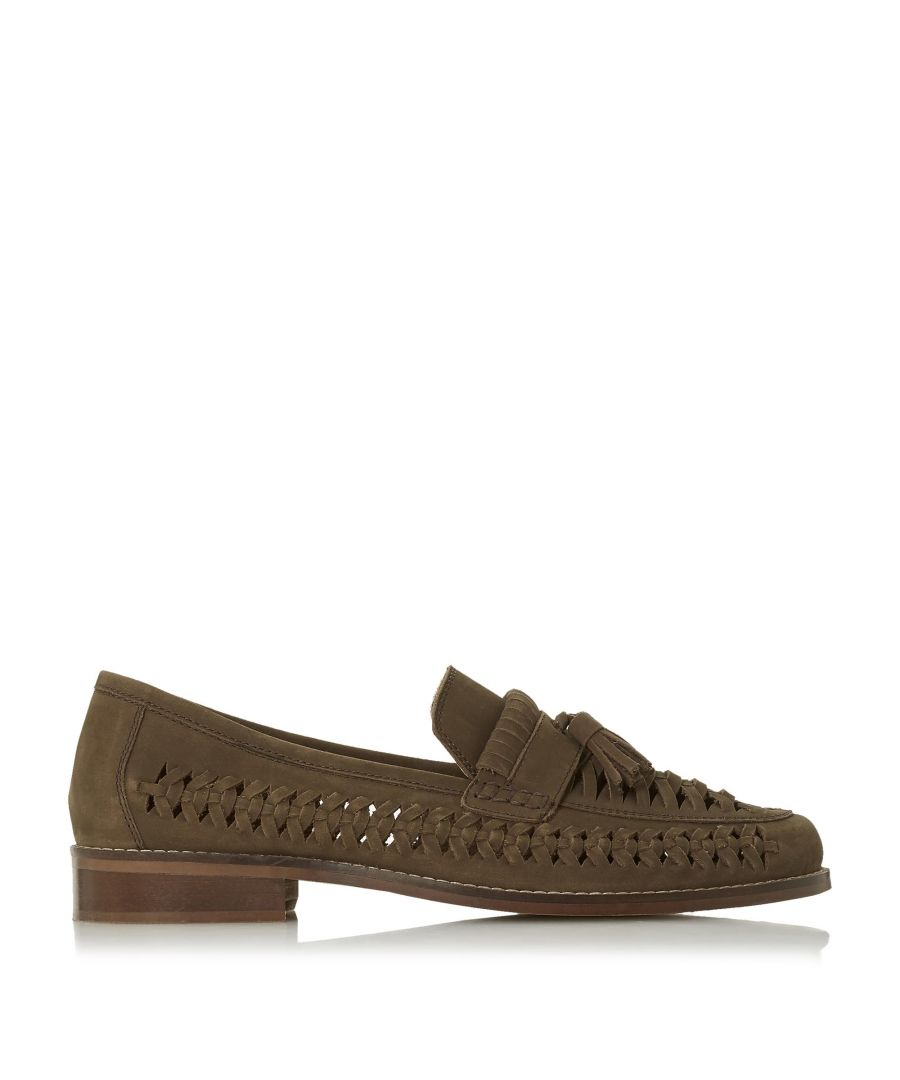 Image for Dune Mens BROADHAVEN Woven Saddle Tassel Loafer