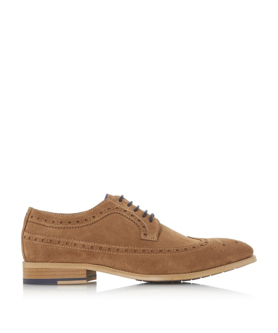 Image for Dune Mens BROOKING Punch Hole Wingtip Suede Brogue