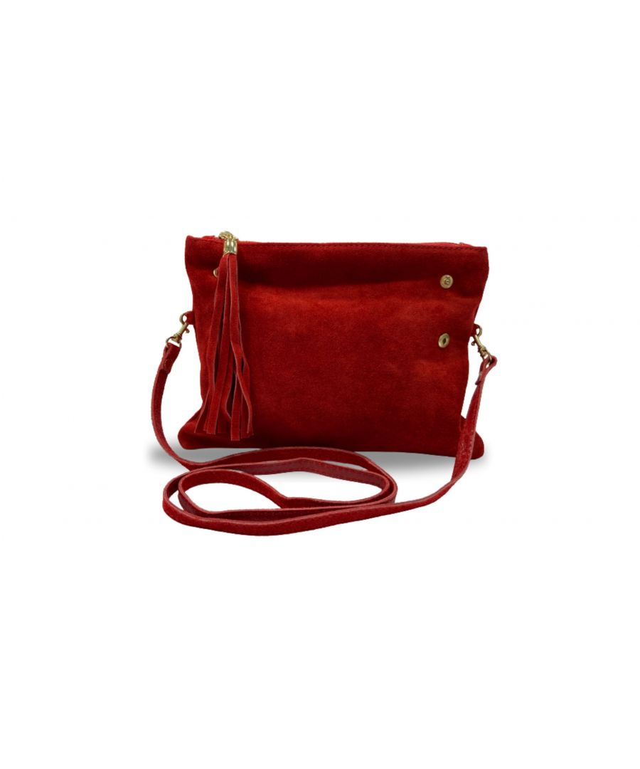 Image for Woodland Leather Fold Over Petite Clutch Style Bag