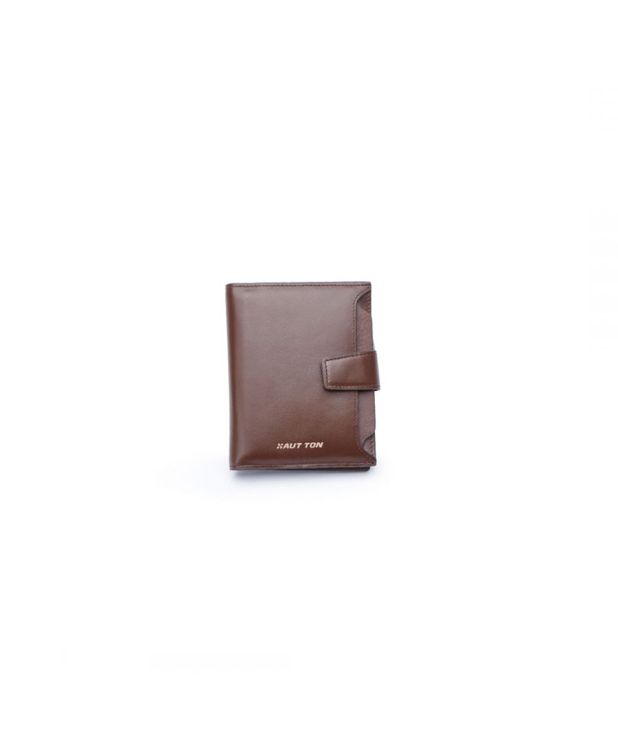 Image for Hautton Brown Clutch Wallet With Pull-Out ID Slot