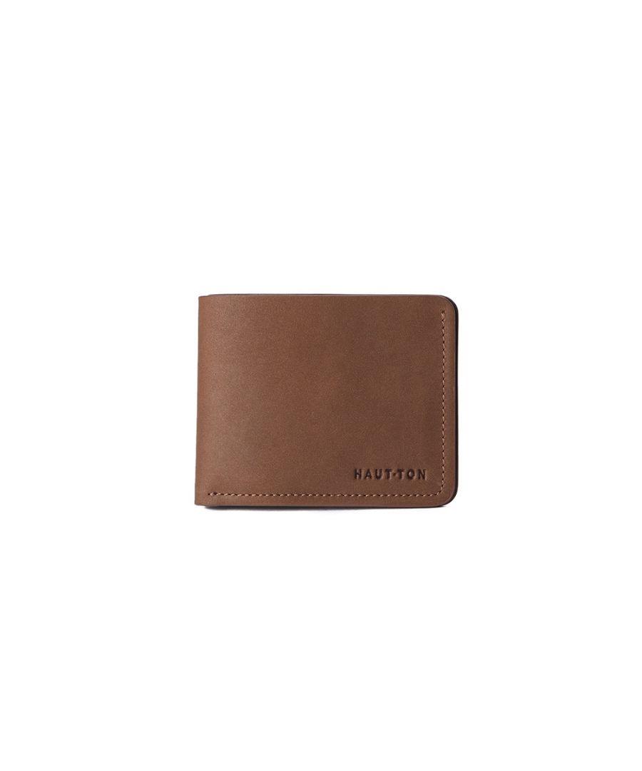 Image for Hautton Brown Slim 4 Credit Card Slot Wallet