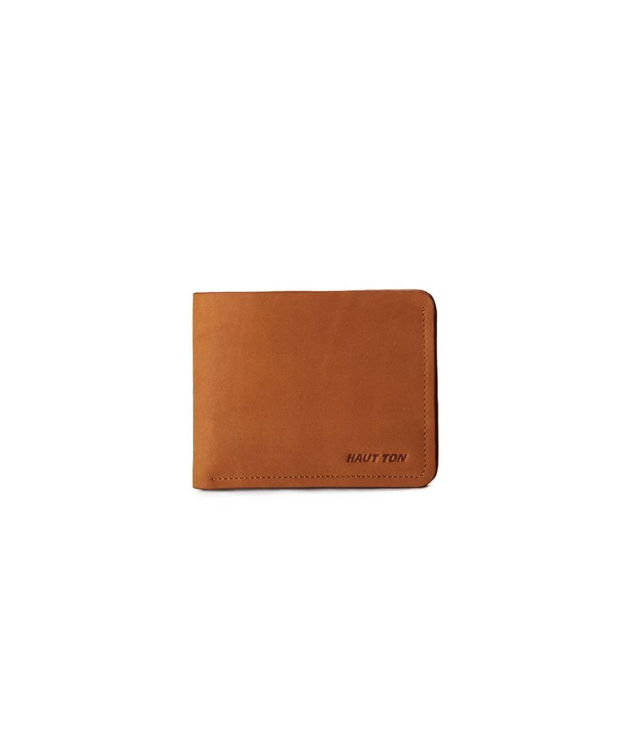 Image for Hautton Tan Slim 4 Credit Card Slot Wallet