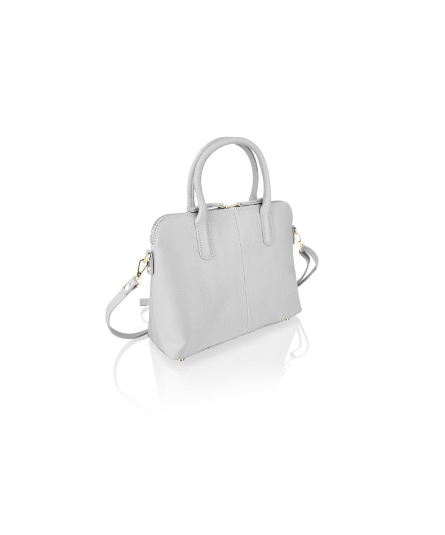 Image for Woodland Leather Grey Tote Bag 12.0
