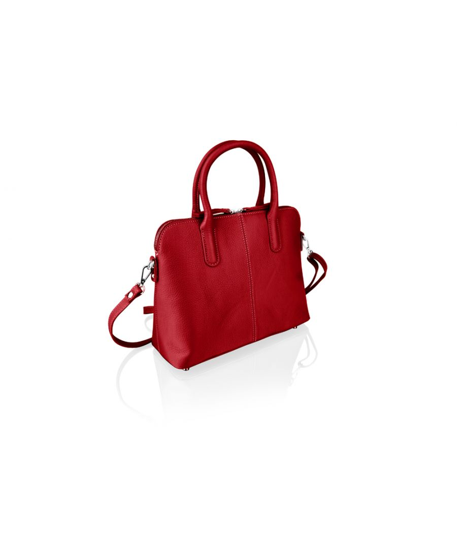 Image for Woodland Leather Red Tote Bag 12.0