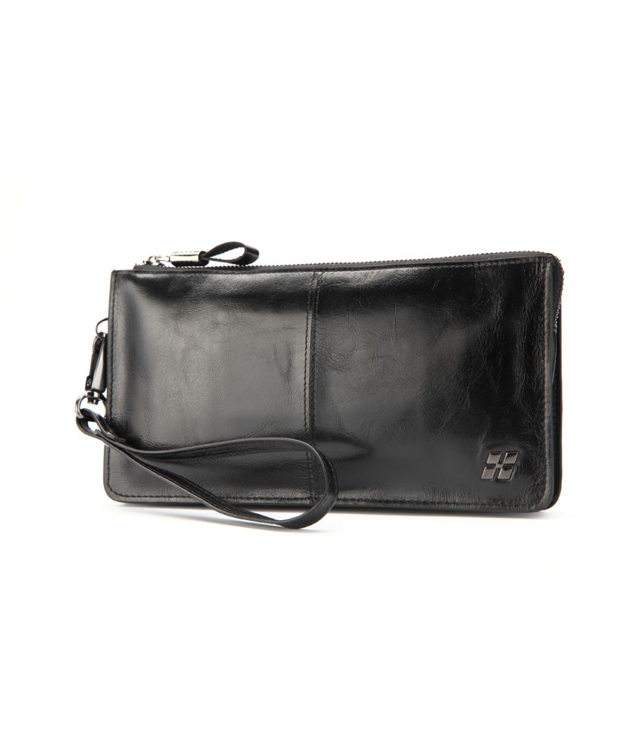 Image for Hautton Leather Black Wrist Bag 8.0