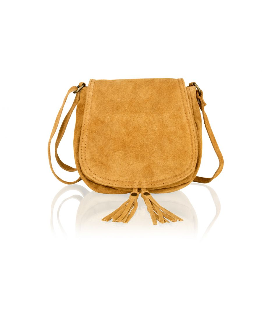 Image for Woodland Leather Light Tan Suede Small Flap Over 7.5