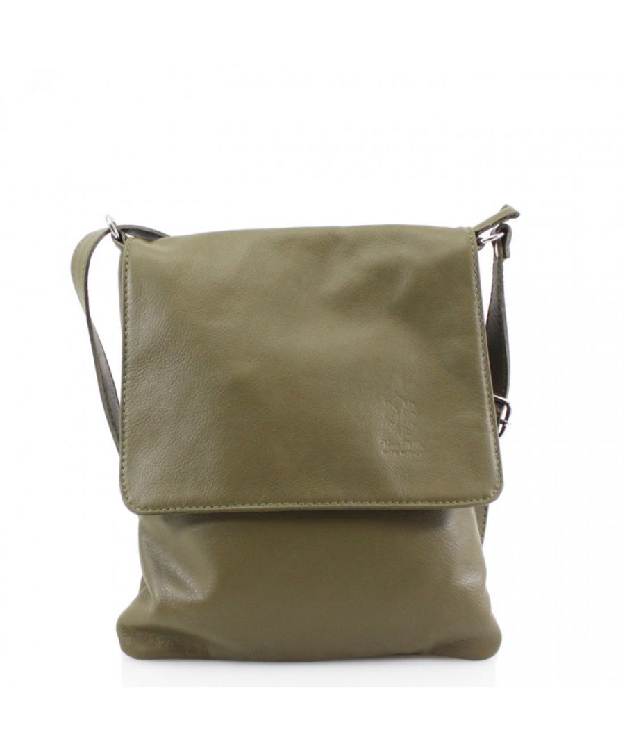Image for Woodland Leather Army Green Genuine Italian Leather Ladies Bag