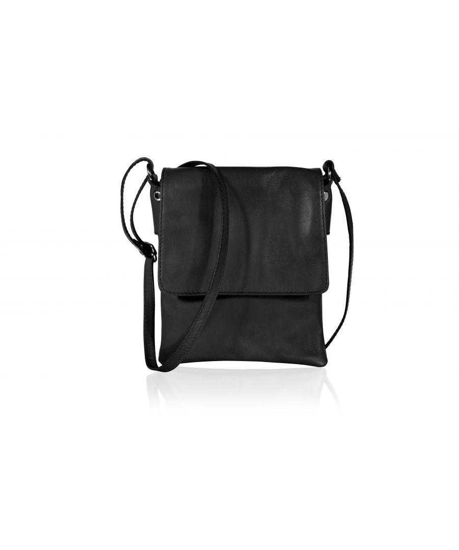 Image for Woodland Leather Black Genuine Italian Leather Ladies Bag