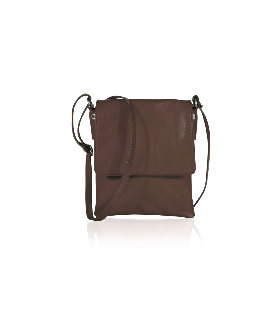 Image for Woodland Leather Brown Genuine Italian Leather Ladies Bag