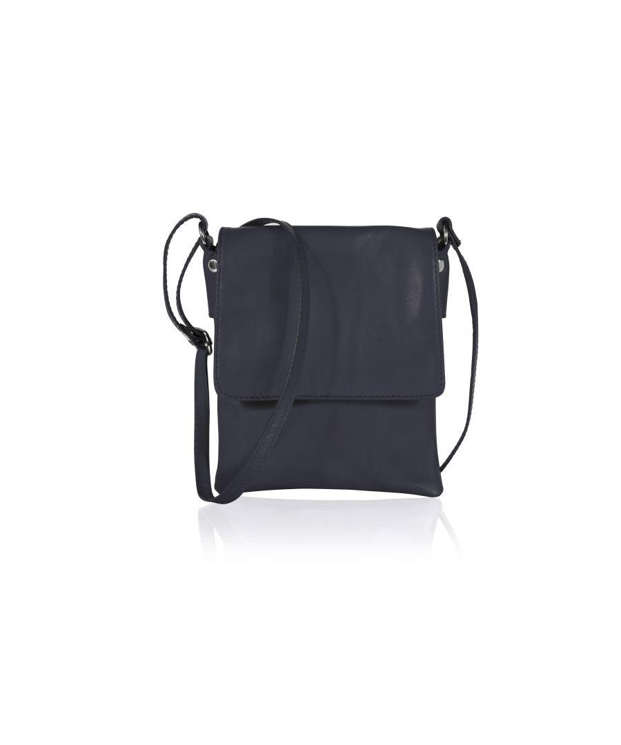 Image for Woodland Leather Navy Genuine Italian Leather Ladies Bag
