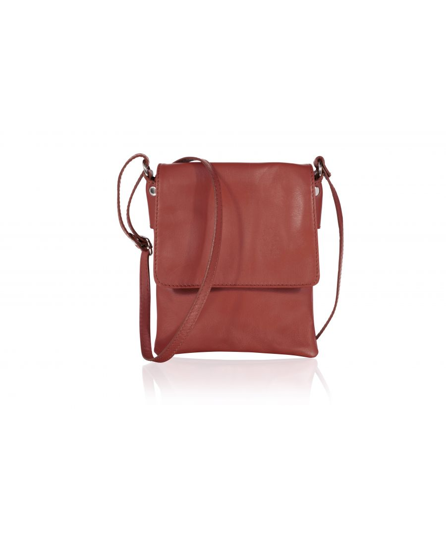 Image for Woodland Leather Red Genuine Italian Leather Ladies Bag
