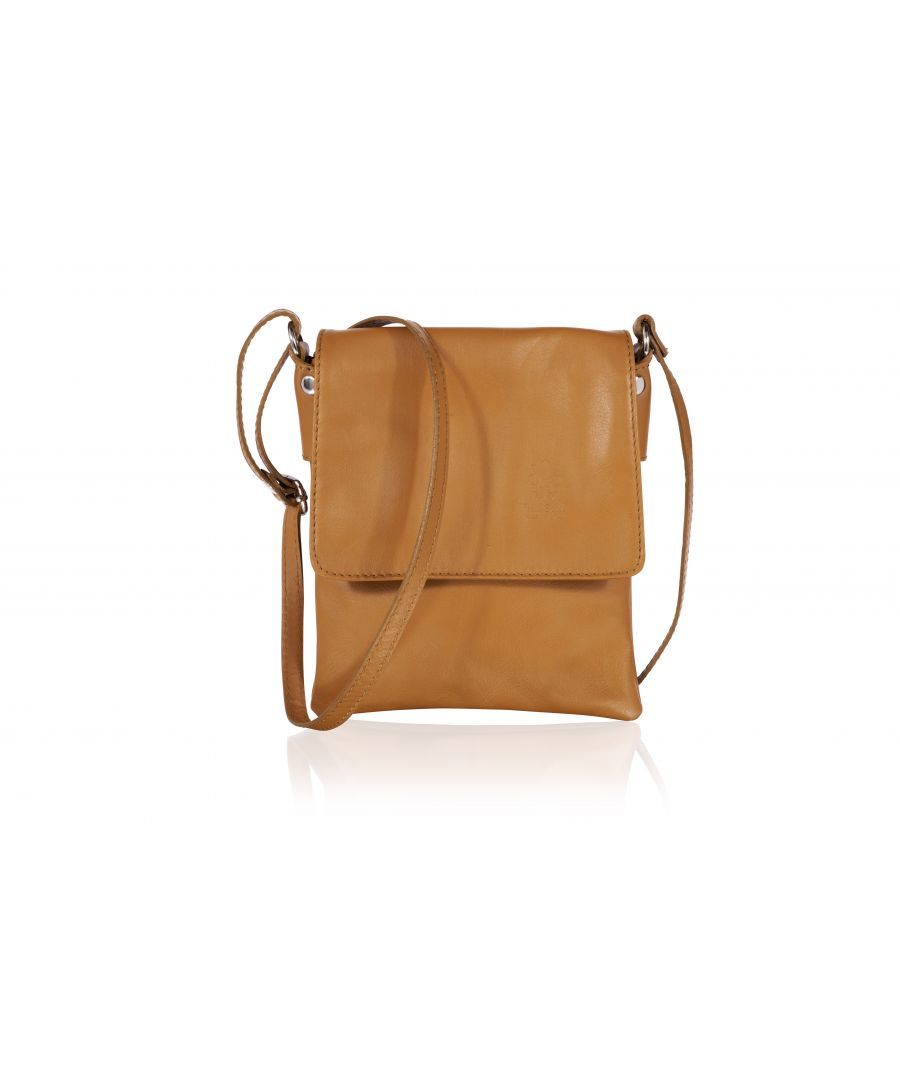 Image for Woodland Leather Tan Genuine Italian Leather Ladies Bag