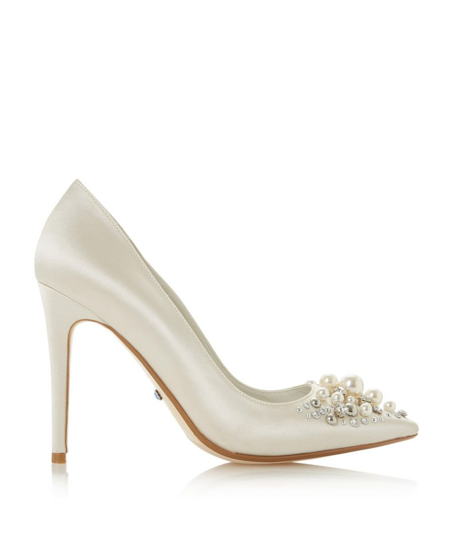 Image for Dune Ladies BRYDAL JL Diamante & Pearl Toe Court Shoes