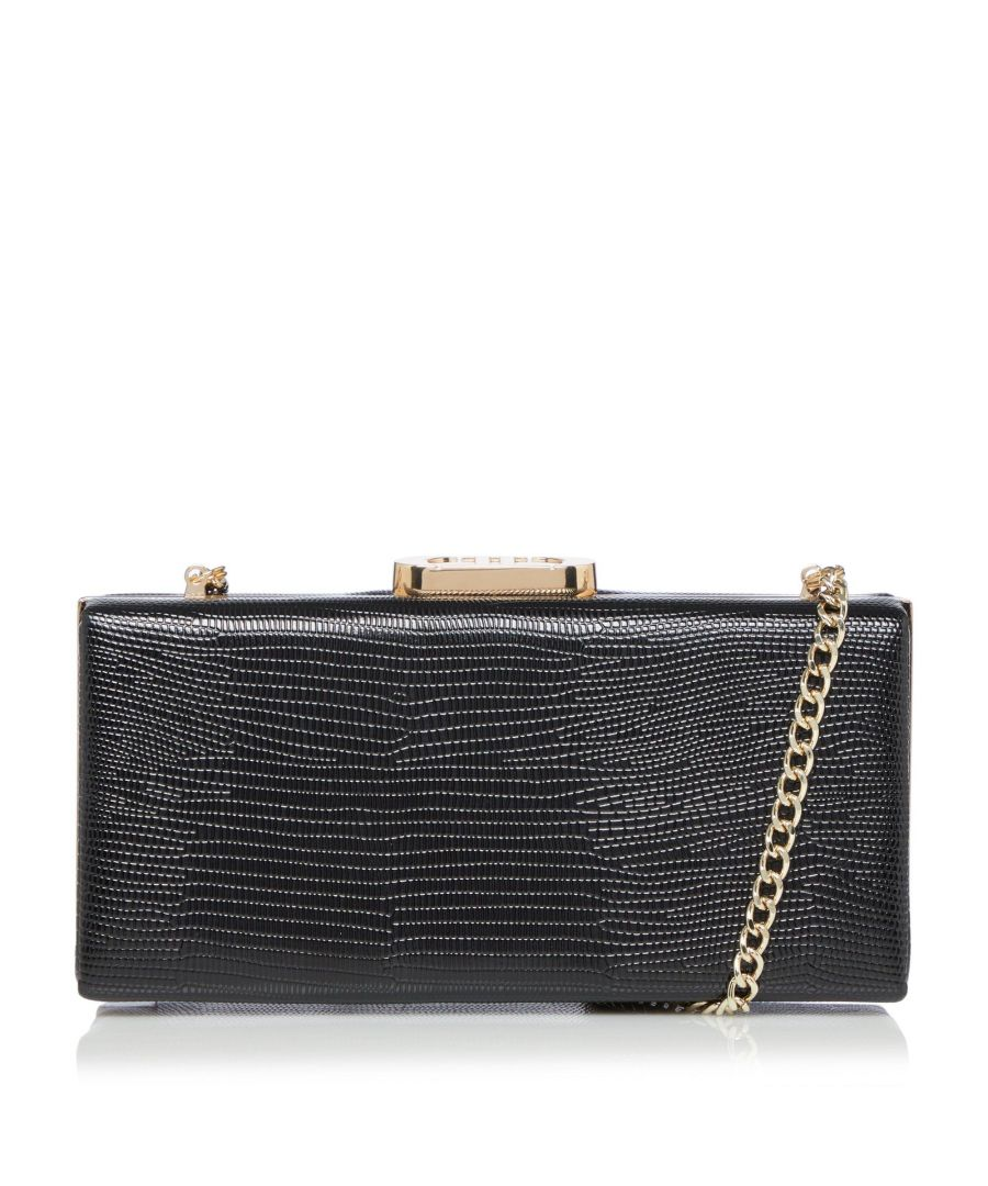 Image for Dune BRYLAN Gold Clasp Box Clutch