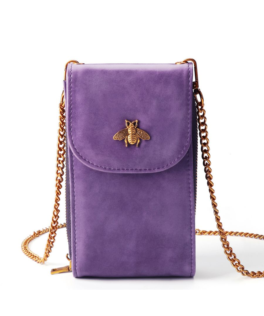 Image for Women's Small Leather Bee Sling Bag