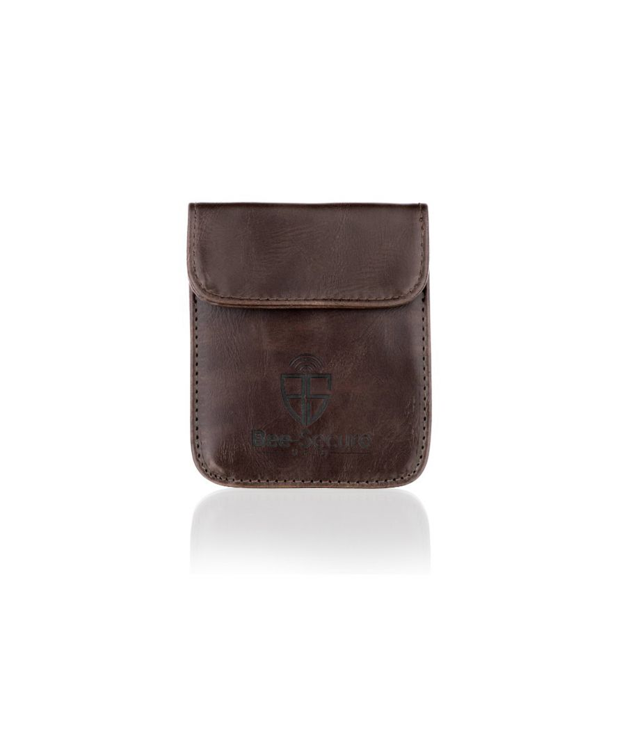 Image for Bee-Secure Brown Key Pouch in PU Leather