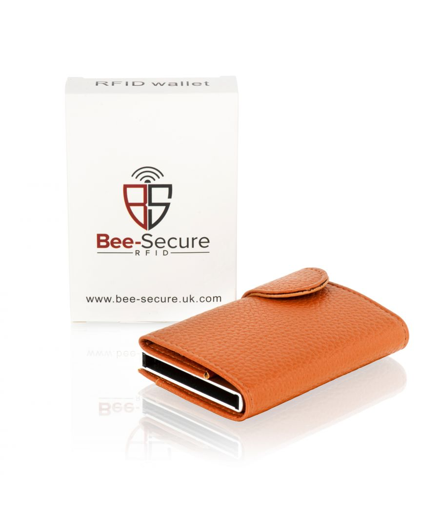 Image for Bee-Secure Tan RFID 6 Credit Card Wallet