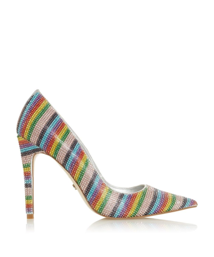 Image for Dune Ladies BUENA VISTA Embellished Rainbow Court Shoes