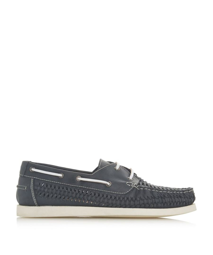 Image for Dune Mens BUGATTI Woven Boat Shoes