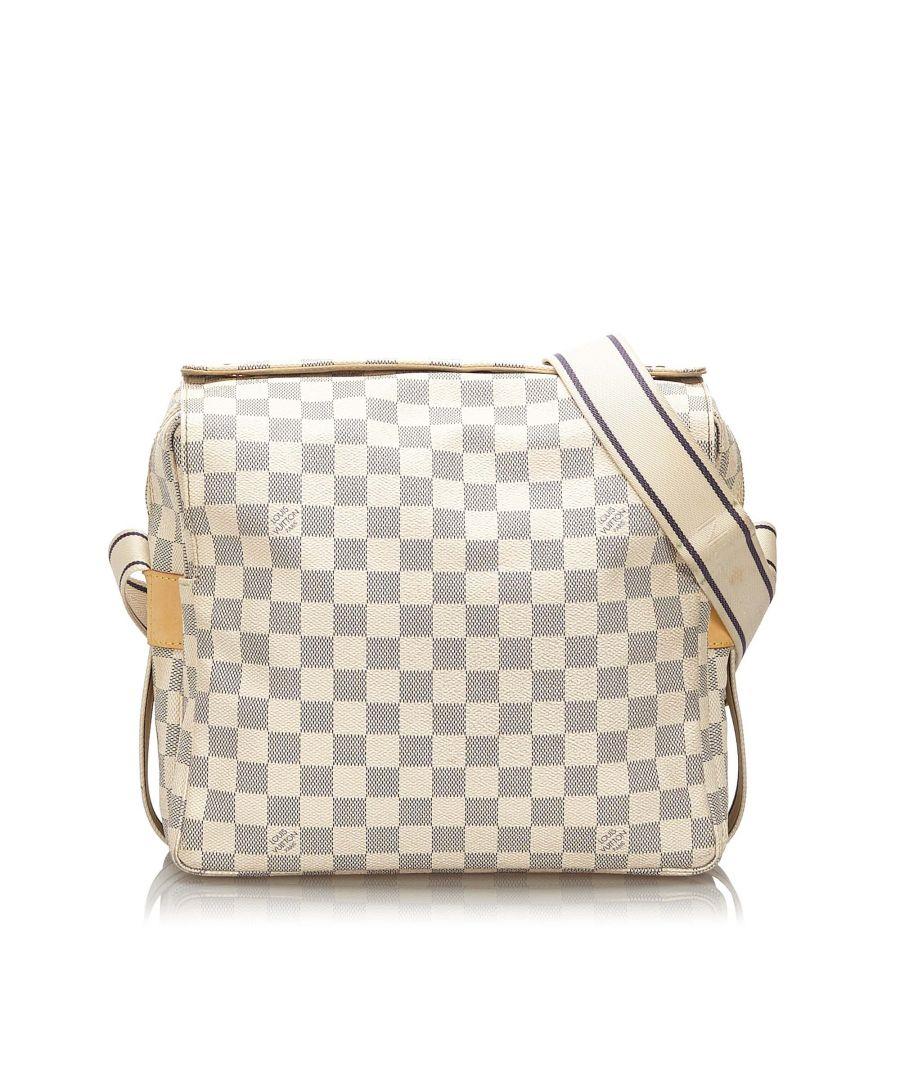 Image for Vintage Louis Vuitton Damier Azur Naviglio White