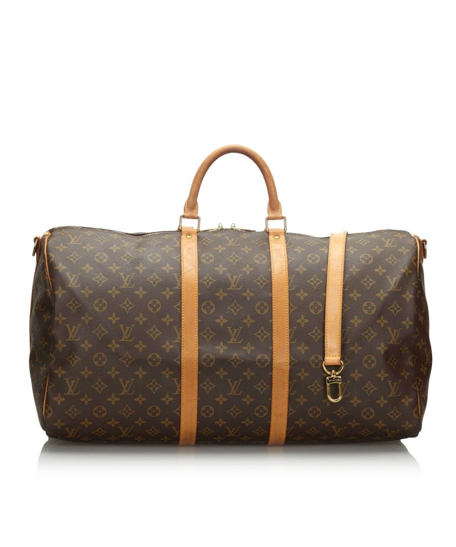 Image for Vintage Louis Vuitton Monogram Keepall Bandouliere 55 Brown