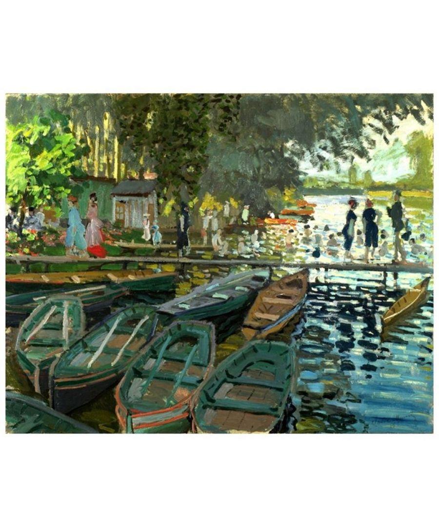 Image for Canvas Print - Bathers At La Grenouillère - Claude Monet Cm. 80x100