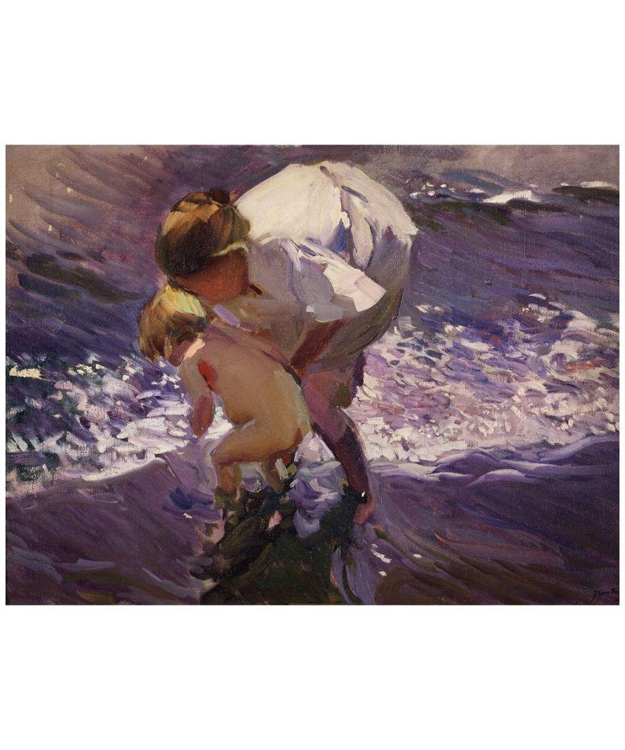 Image for Canvas Print - Bathing On The Beach - Joaquín Sorolla Cm. 60x80