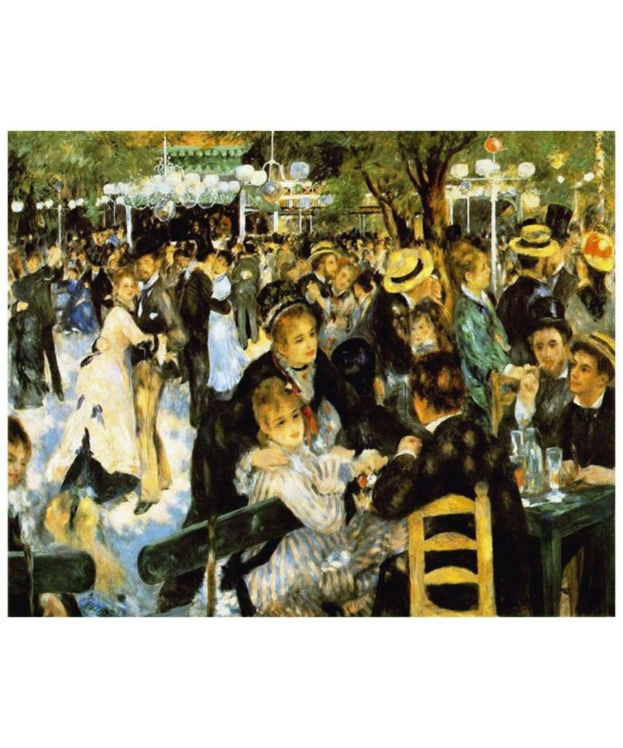 Image for Canvas Print - Dance At The Moulin De La Galette - Pierre Auguste Renoir Cm. 80x100