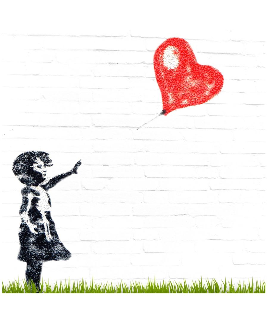 Image for Canvas Print - Girl and Heart Balloon 2, Banksy cm. 50x50