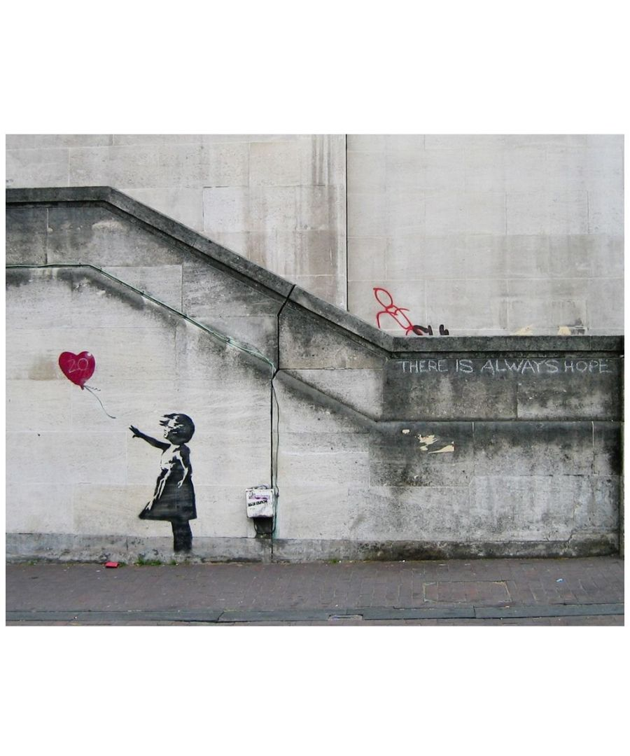 Image for Canvas Print - Girl and Heart Balloon, Banksy cm. 60x80