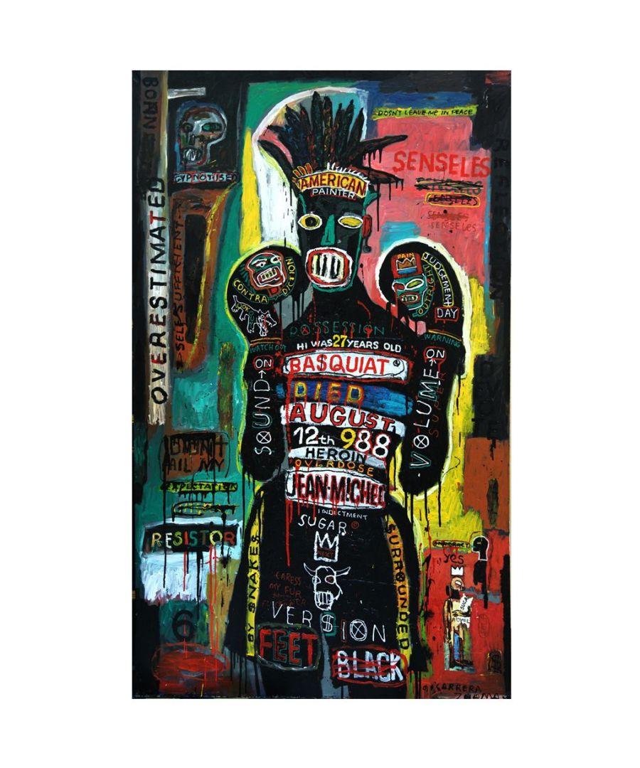 Image for Canvas Print - Basquiat - Maxim Bashev cm. 50x80