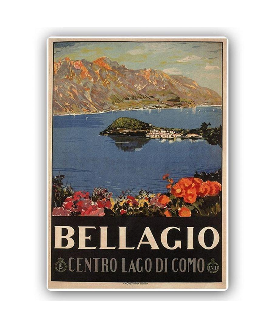 Image for Vintage Tourist Poster - Metal Print  - Bellagio