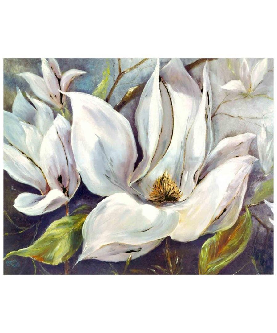 Image for Canvas Print - White Petals Cm. 80x100