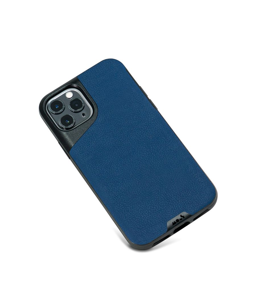 Image for Mous - Protective Case for iPhone 11 Pro - Contour - Blue Leather - No Screen Protector