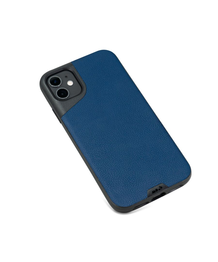 Image for Mous - Protective Case for iPhone 11 - Contour - Blue Leather - No Screen Protector