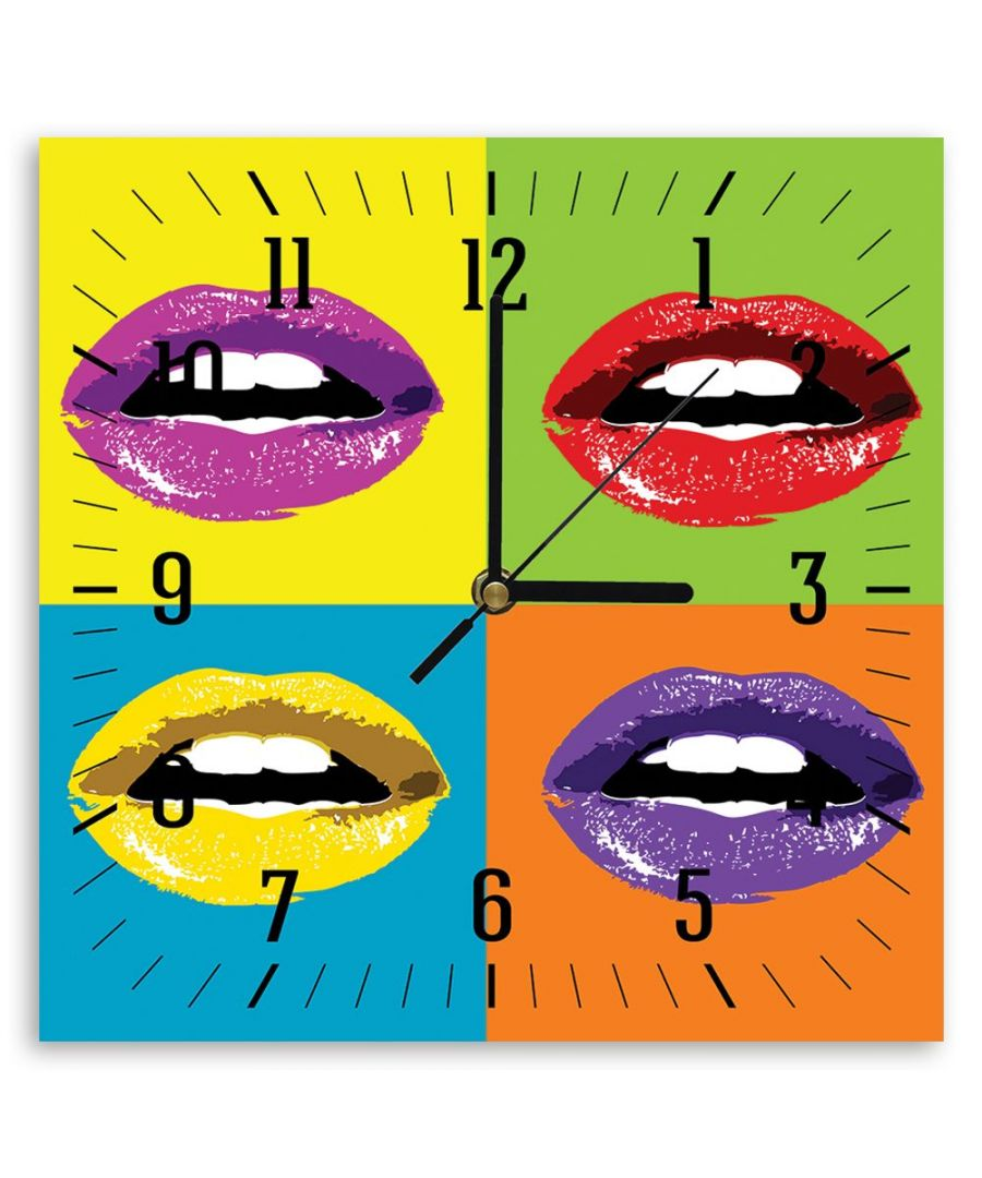 Image for Wall Clock - Colored Mouths Cm. 30x30