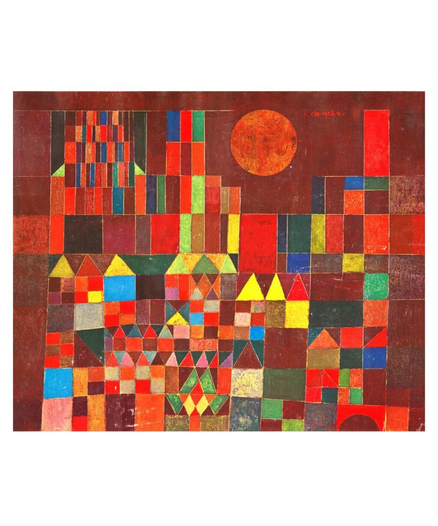 Image for Canvas Print - Burg Und Sonne (Castle And Sun) - Paul Klee